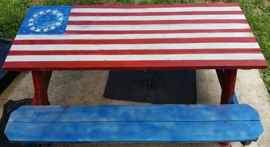 13 Star Flag Table